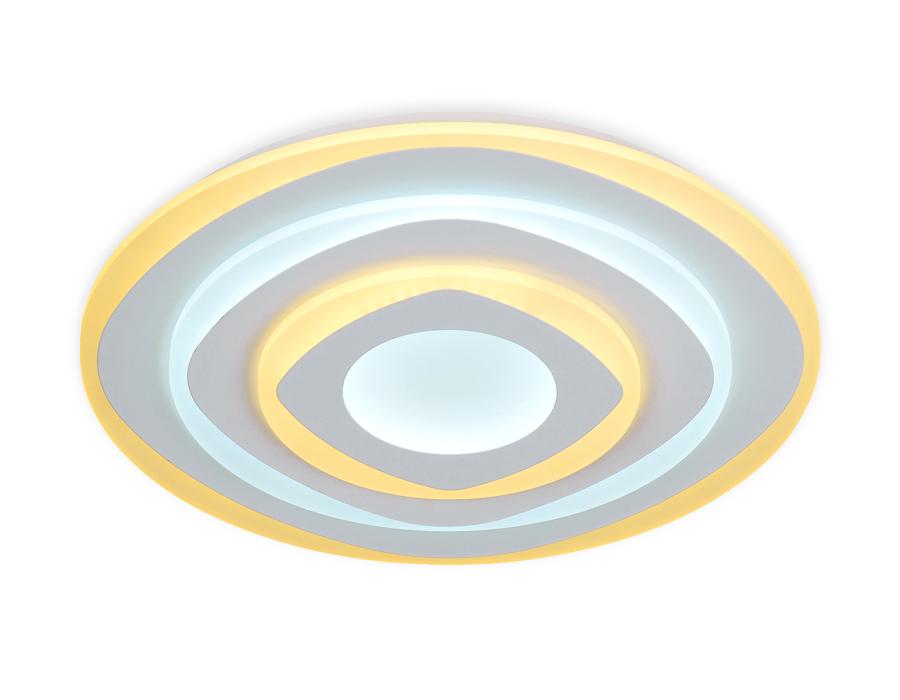 Потолочный светодиодный светильник с пультомFA788 WH белый 92W D500*60 (ПДУ РАДИО 2.4)