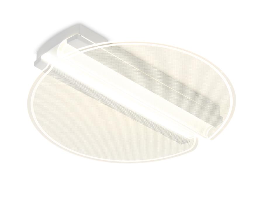 Потолочный светодиодный светильник с пультомFA613 WH белый 64W D500*80 (ПДУ РАДИО 2.4)