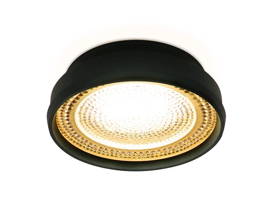 Встраиваемый точечный светильник MR16 в стиле техноTN348 SBK/TI черный песок/янтарь GU5.3 D85*45