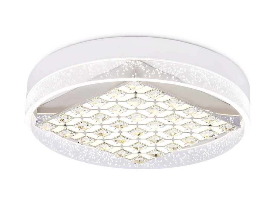 Потолочный светодиодный светильник с пультомFA151 WH белый 100W D500*90 (ПДУ РАДИО 2.4)