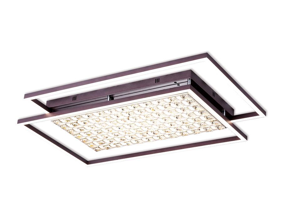 Управляемый светодиодный светильник с хрусталемFA115 CF кофе 172W 960*660*110 (ПДУ РАДИО 2.4)