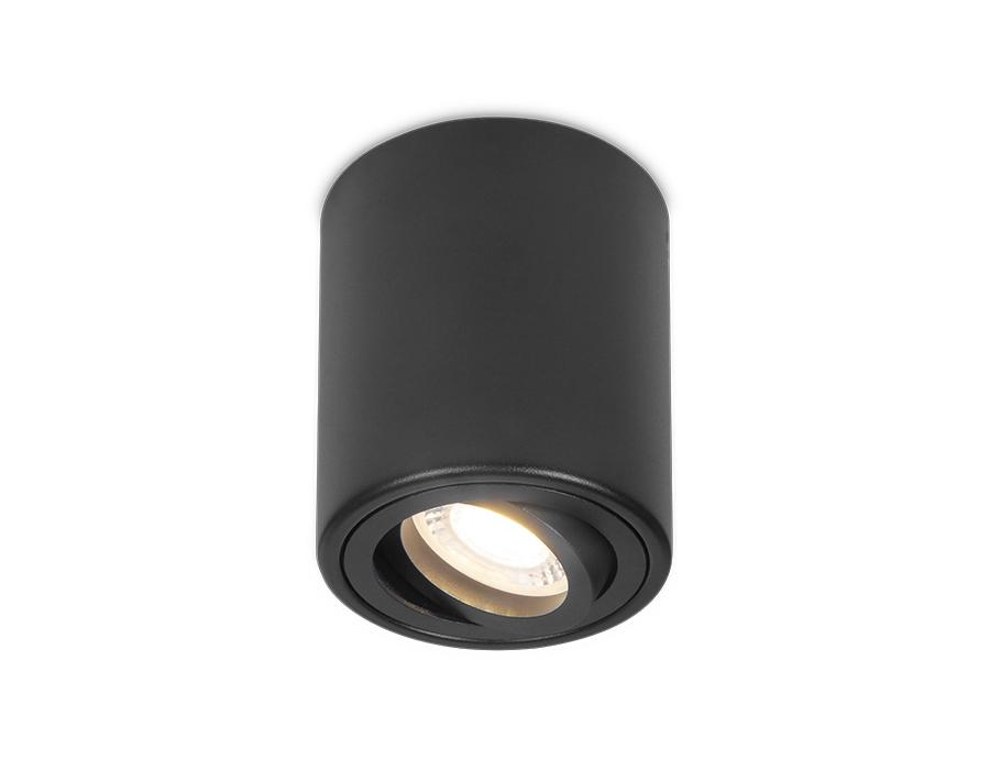 Накладной поворотный точечный светильникTN226 BK черный GU5.3 D80*100