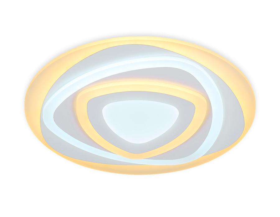 Потолочный светодиодный светильник с пультомFA804 WH белый 140W 500*500*60 (ПДУ РАДИО 2.4)