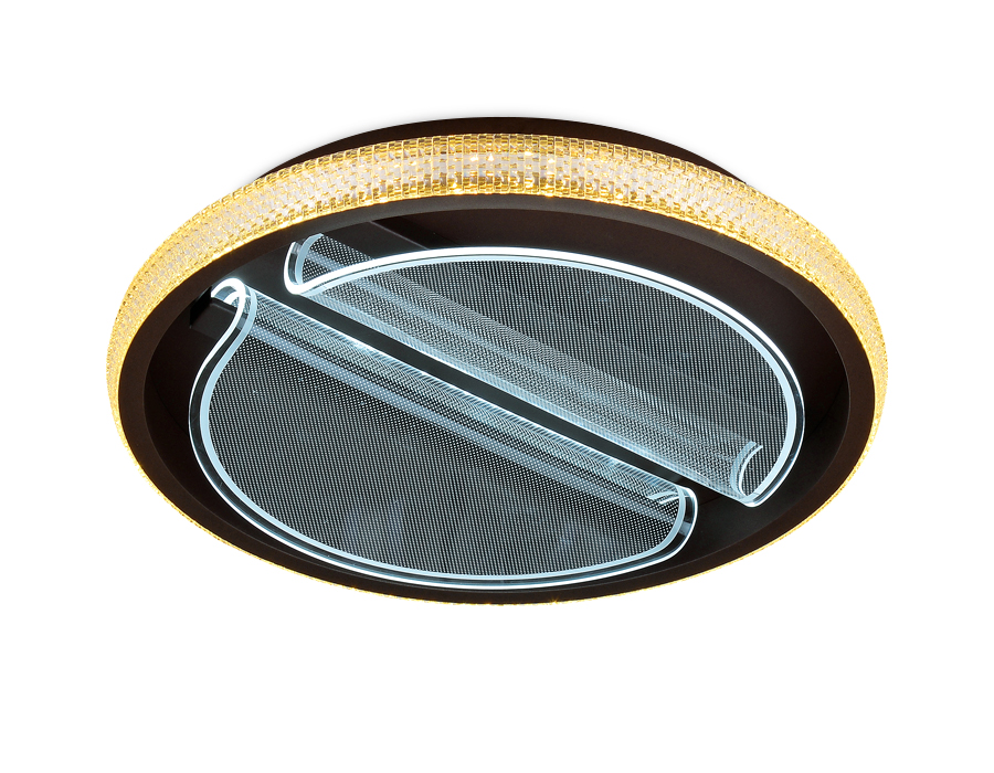 Потолочный светодиодный светильник с пультомFA604 CF кофе 88W D470*90 (ПДУ РАДИО 2.4)