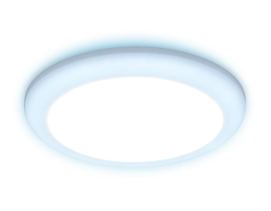 Встраиваемый cветодиодный светильник с регулируемым крепежом и подсветкойDCR312 18W+6W 4200K/6400K 8
