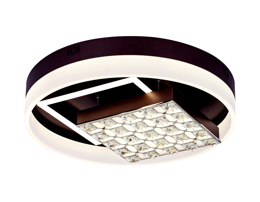 Потолочный светодиодный светильник с пультомFA145 CF кофе 104W D500*120 (ПДУ РАДИО 2.4)