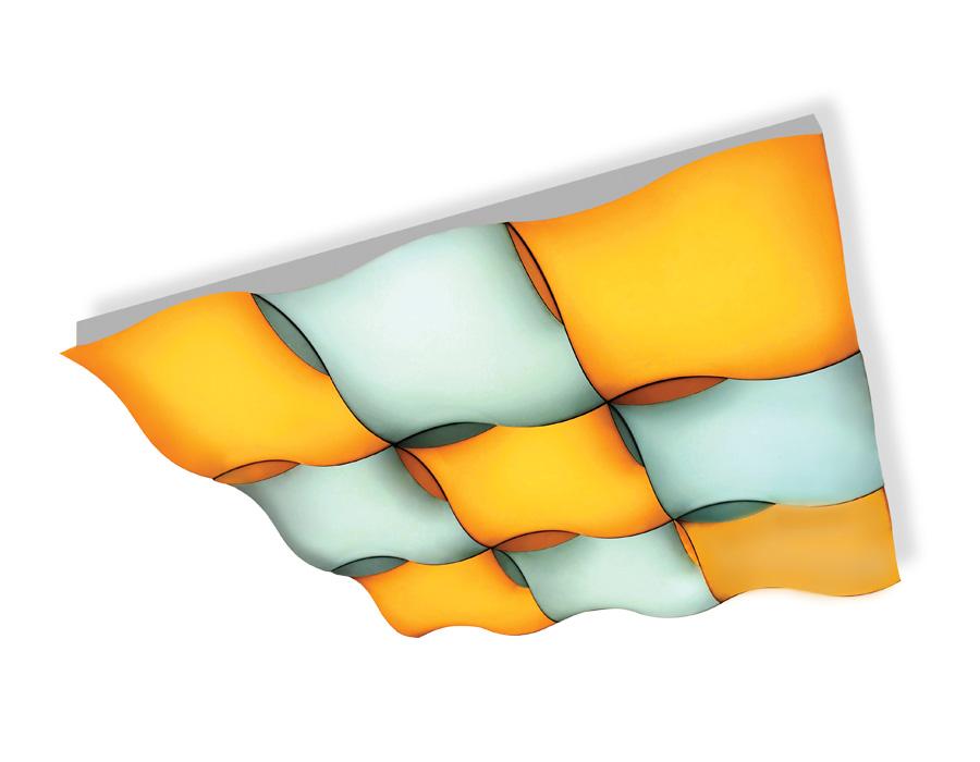Потолочный светодиодный светильник с пультомFP2359 WH белый 324W 810*810*90 (ПДУ РАДИО 2.4)