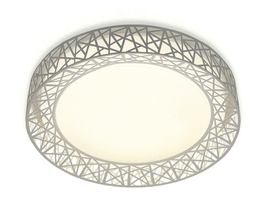 Потолочный светодиодный светильник с пультомFF122 WH белый 72W D500*95 (ПДУ ИК)