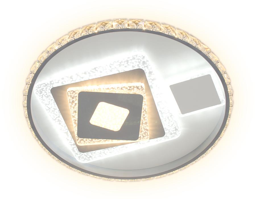 Потолочный светодиодный светильник с пультом FA242 WH белый 105W D500*75 (ПДУ РАДИО 2.4)