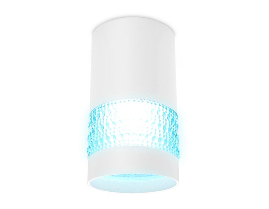 Накладной точечный светильник GU5.3TN371 SWH/BL белый песок/голубой GU5.3 D65*117
