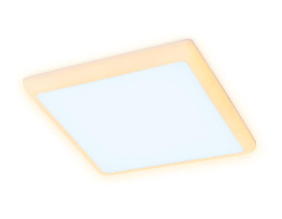 Встраиваемый cветодиодный светильник с подсветкойDCR335 18W+6W 6400K/3000K 85-265V 170*170*32 (A155*