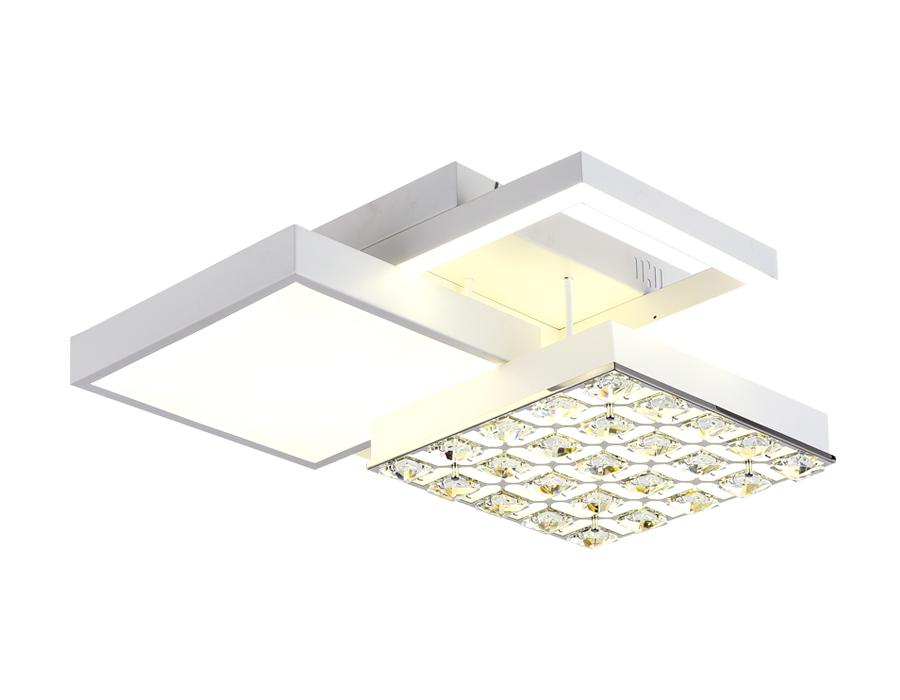 Потолочный светодиодный светильник с пультомFA147 WH белый 96W 450*450*150 (ПДУ РАДИО 2.4)