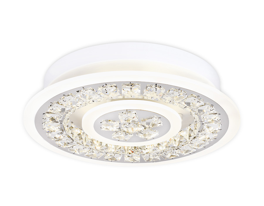 Потолочный светодиодный светильник с пультомFA153 WH белый 82W D400*90 (ПДУ РАДИО 2.4)