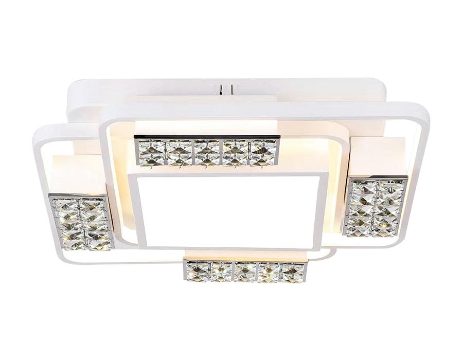 Потолочный светодиодный светильник с пультомFA144 WH белый 96W 500*500*110 (ПДУ РАДИО 2.4)