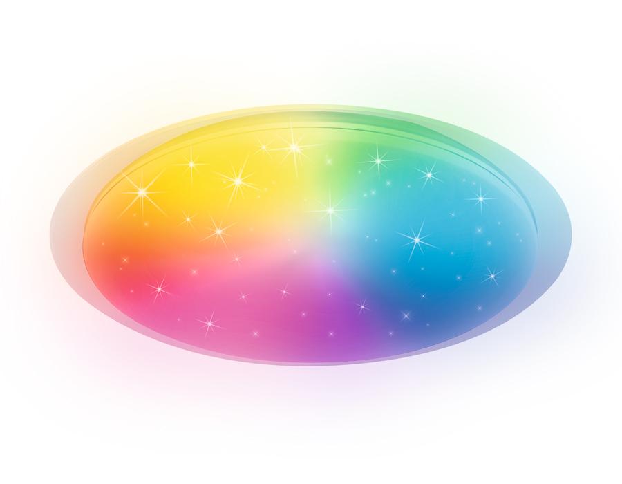 Светодиодный светильник c подсветкой RGBFF470 WH белый 60W D450*70 (ПДУ ИК)