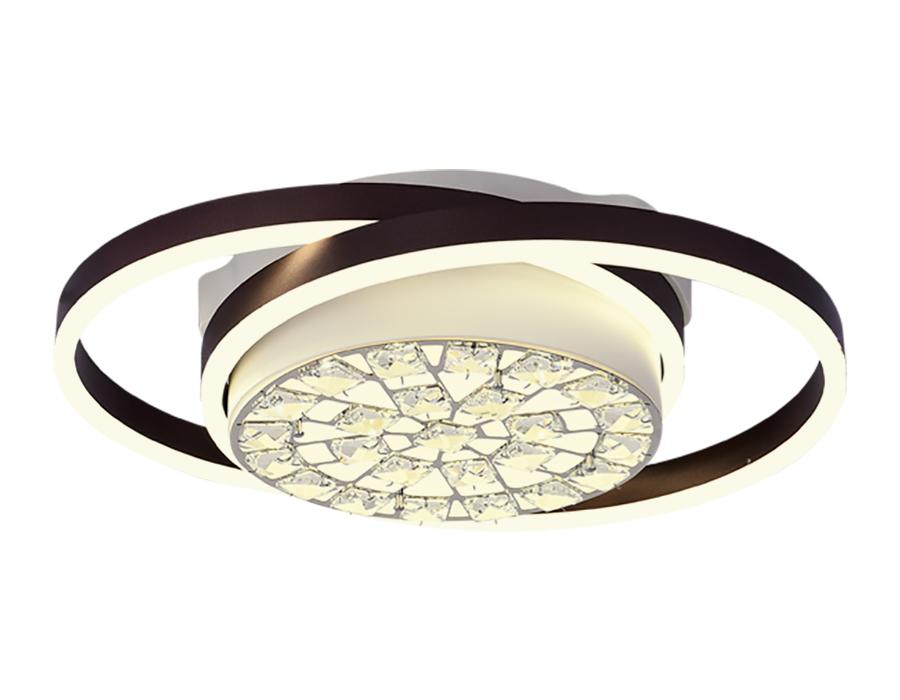 Потолочный светодиодный светильник с пультом FA149 WH/CF белый/кофе 94W 500*400*110 (ПДУ РАДИО 2.4)