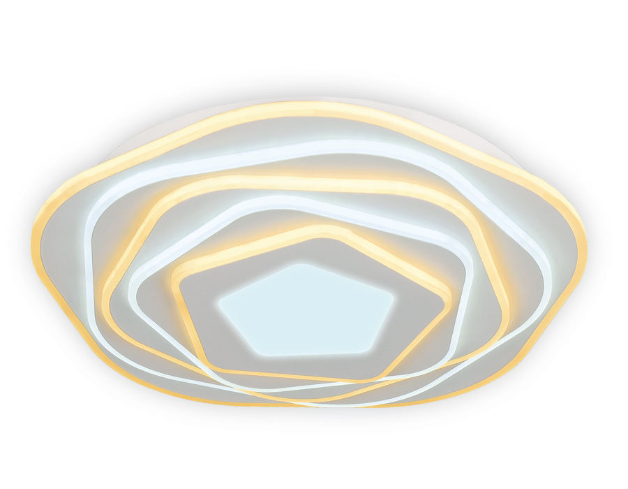 Потолочный светодиодный светильник с пультомFA814 WH белый 78W D500*80 (ПДУ РАДИО 2.4)