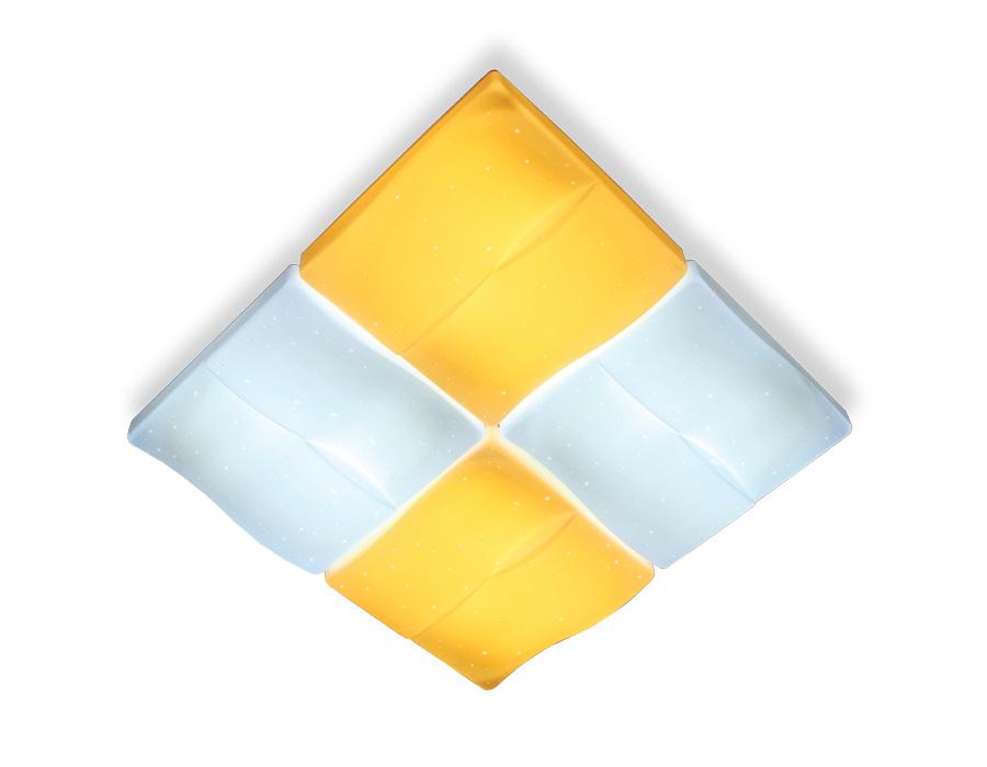 Потолочный светодиодный светильник с пультомFP2382 WH 128W 500*500*100 (ПДУ РАДИО 2.4)