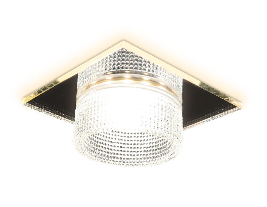 Встраиваемый точечный светильник MR16 в стиле техноTN355 CH/CL хром/прозрачный GU5.3+3W (LED WHITE)