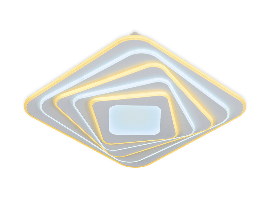 Потолочный светодиодный светильник с пультом FA816 WH белый 82W 500*500*80 (ПДУ РАДИО 2.4)