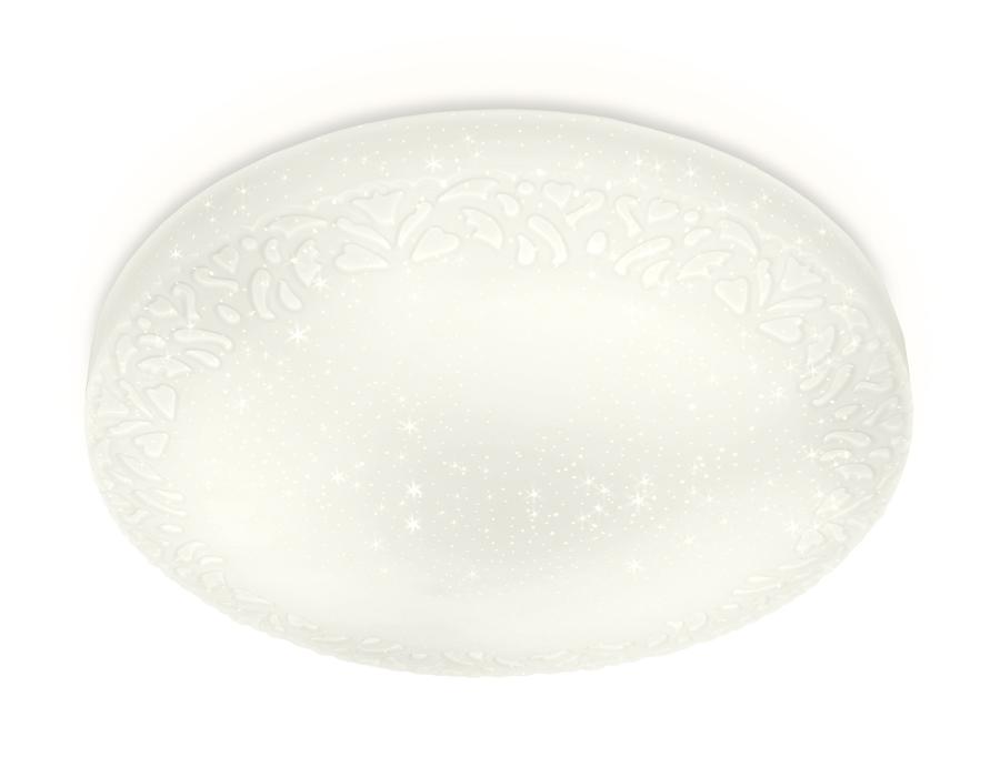 Потолочный светодиодный светильник с пультомFF21 WH белый 48W D400*80 (ПДУ ИК)