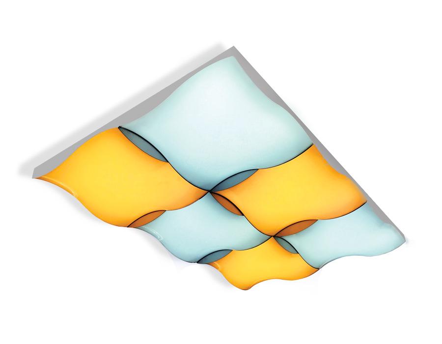Потолочный светодиодный светильник с пультомFP2356 WH белый 216W 810*540*90 (ПДУ РАДИО 2.4)