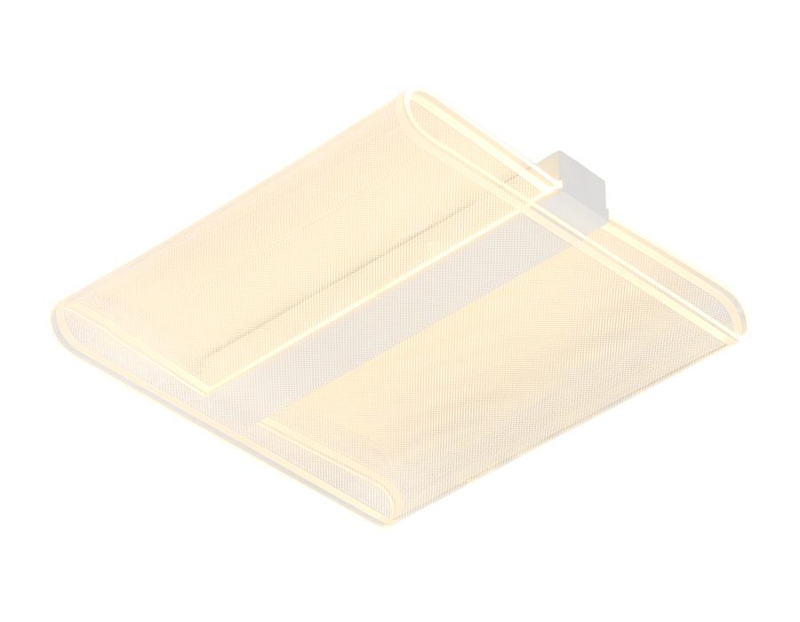 Потолочный светодиодный светильник с пультомFA625 WH белый 64W 500*500*80 (ПДУ РАДИО 2.4)