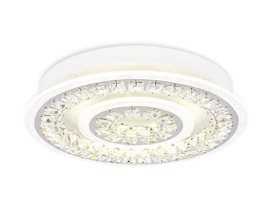 Потолочный светодиодный светильник с пультомFA154 WH белый 114W D500*90 (ПДУ РАДИО 2.4)