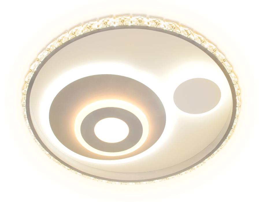 Потолочный светодиодный светильник с пультомFA244 WH белый 105W D500*75 (ПДУ РАДИО 2.4)