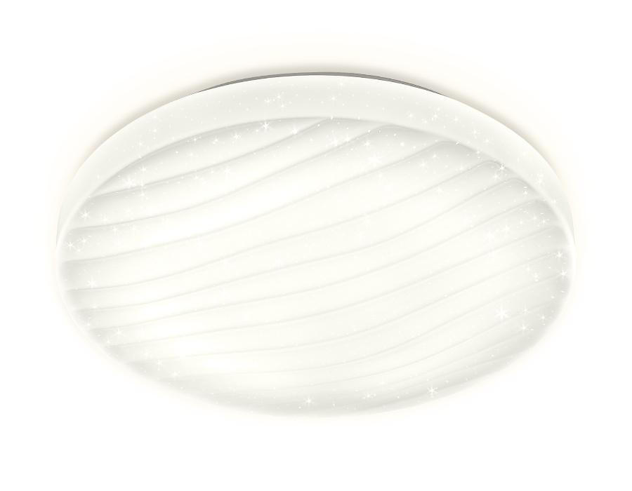 Потолочный светодиодный светильник с пультомFF19 WH белый 48W D400*80 (ПДУ ИК)