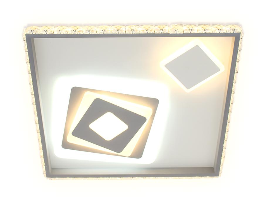 Потолочный светодиодный светильник с пультомFA248 WH белый 117W 500*500*75 (ПДУ РАДИО 2.4)