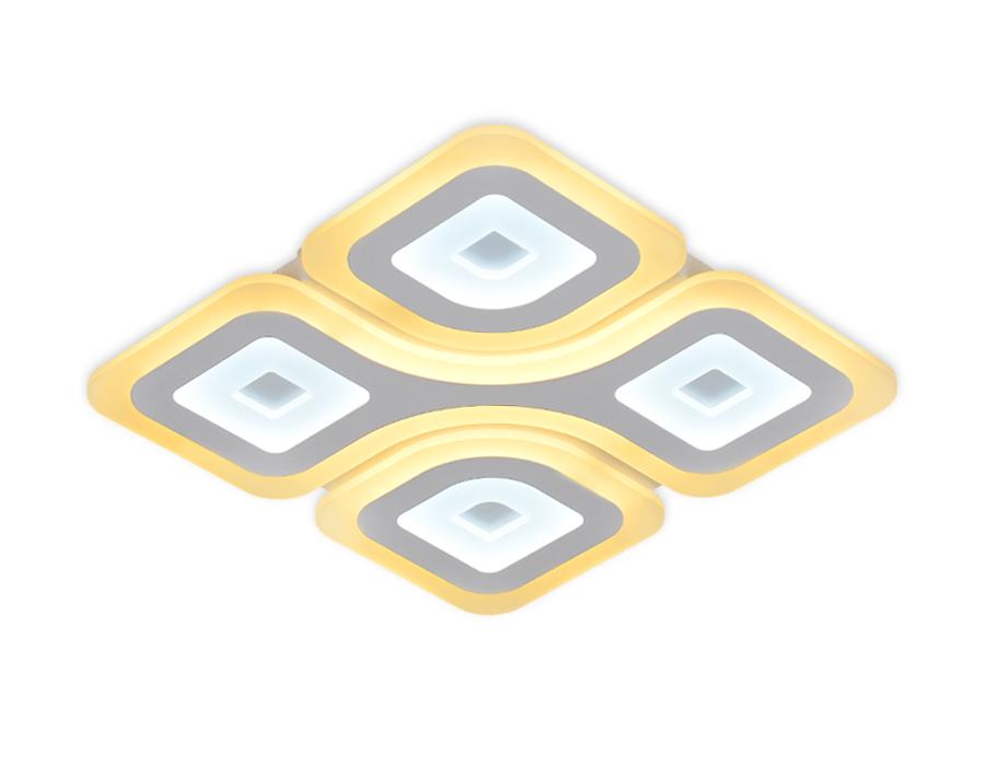 Потолочный светодиодный светильник с пультомFA801 WH белый 126W 500*500*50 (ПДУ РАДИО 2.4)