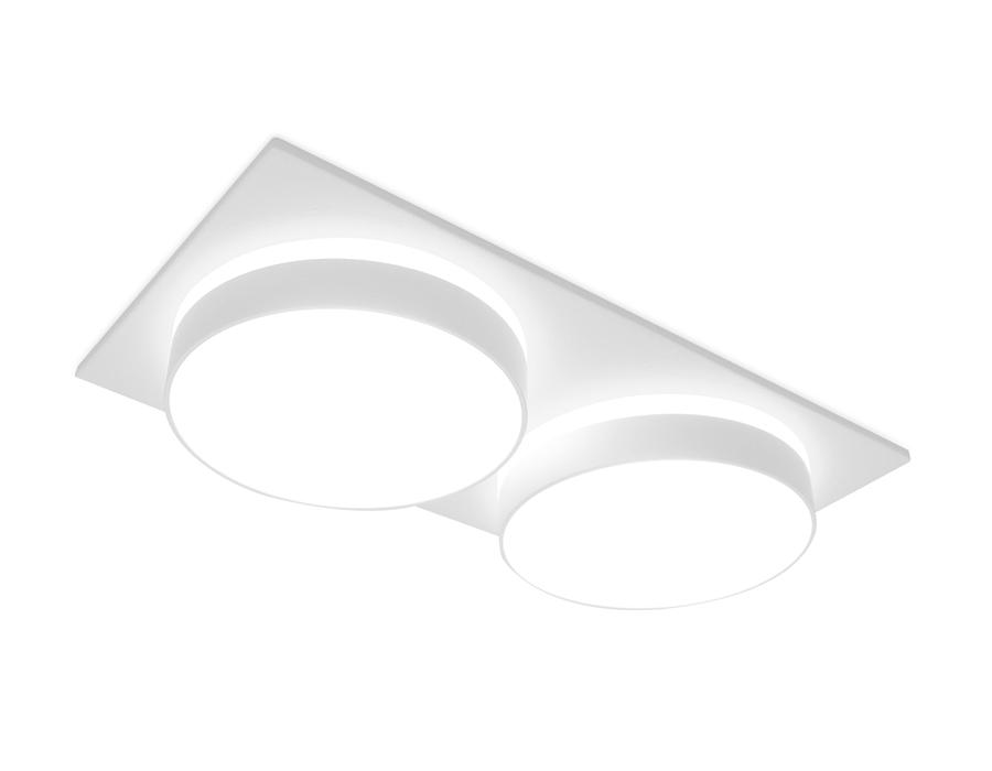 Встраиваемый точечный светильник MR16 в стиле техноTN318/2 SWH белый песок GU5.3 182*92*40