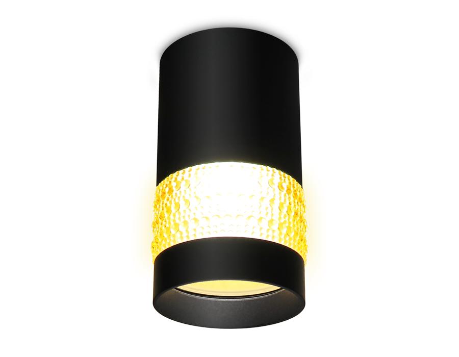 Накладной точечный светильник GU5.3TN375 SBK/TI черный песок/янтарь GU5.3 D65*117