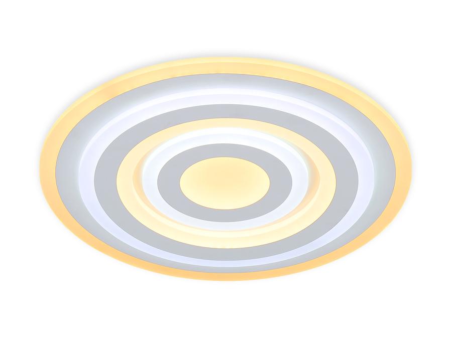 Потолочный светодиодный светильник с пультомFA808 WH белый 140W 500*500*60 (ПДУ РАДИО 2.4)