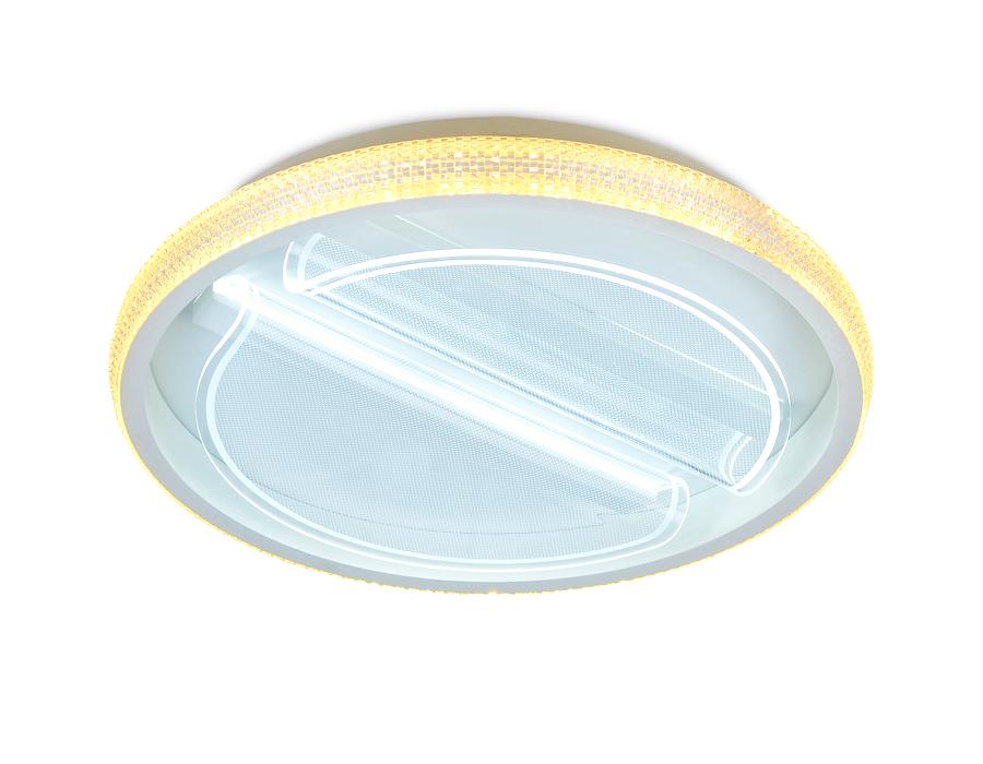 Потолочный светодиодный светильник с пультомFA602 WH белый 88W D470*90 (ПДУ РАДИО 2.4)